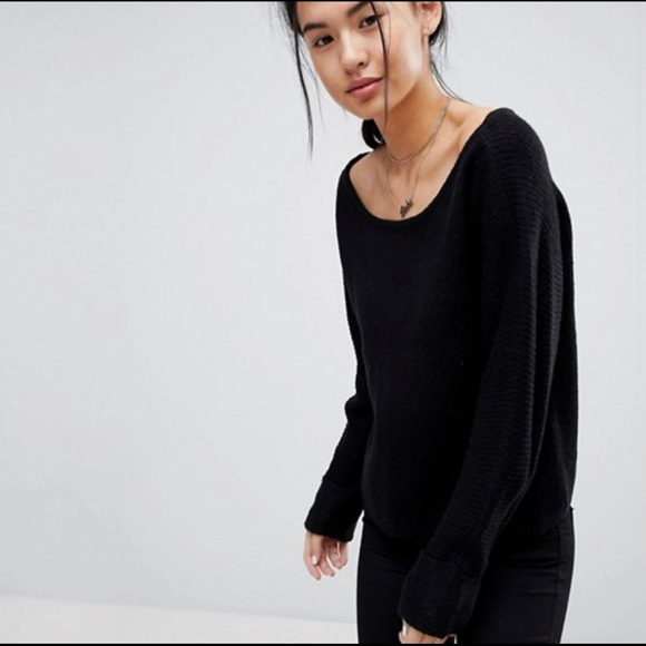 Sweaters - Boat Neck Sweater - Brand Noisy May